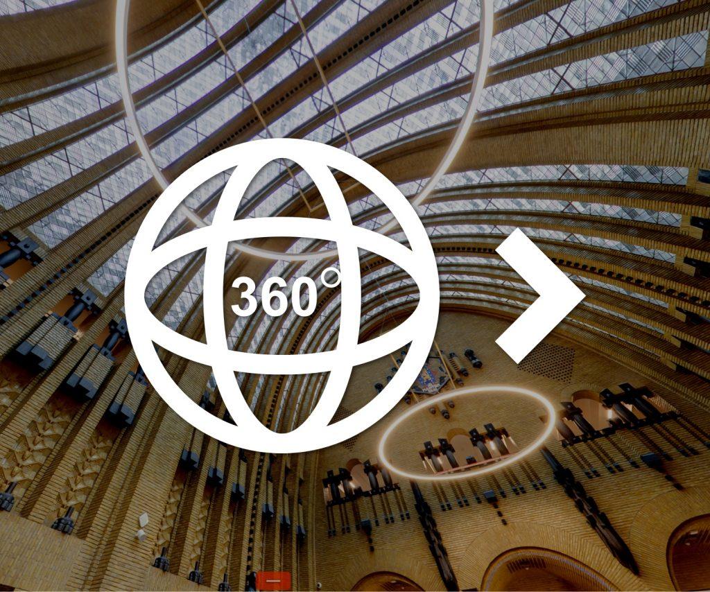Bekijk de bibliotheek van binnen via 360-graden fotografie
